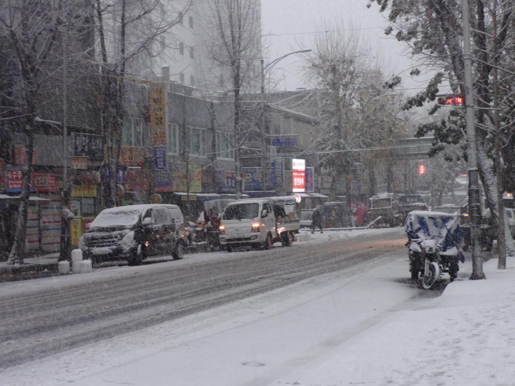ソウル 雪 11月