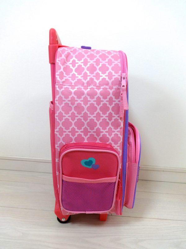 ステファンジョセフのユニコーンのスーツケースの横