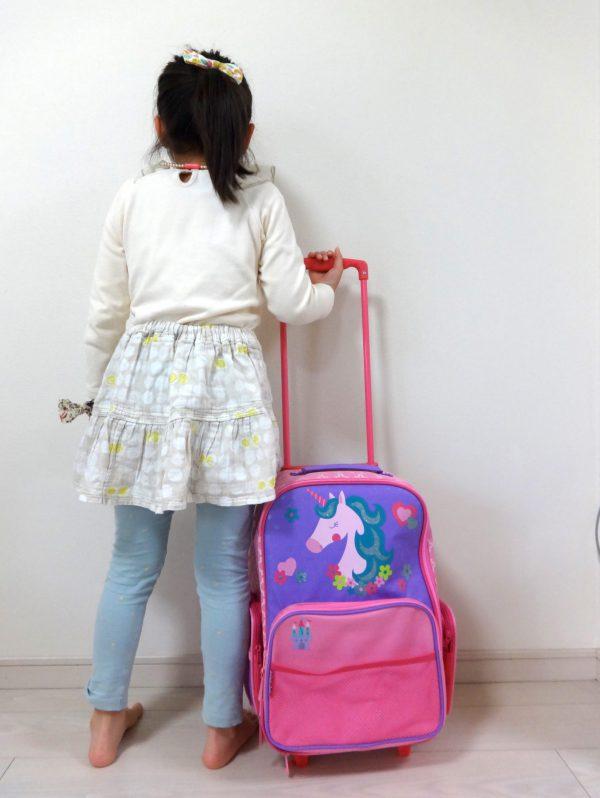 ステファンジョセフのユニコーンのスーツケース 子供と一緒に