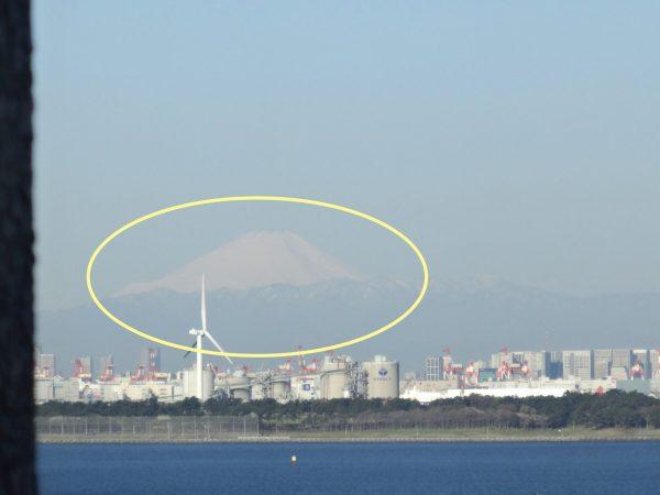 サンルートホテル東京プレジャープレミアムルーム 専用朝食会場 富士山
