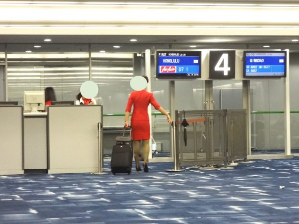 エアアジア 搭乗開始