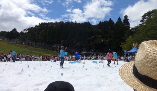 六甲山「真夏の雪まつり」宝探しゲームの持ち物と攻略法