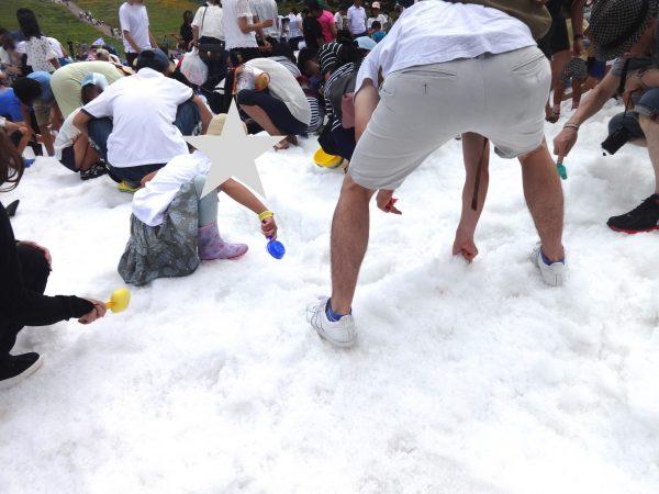 六甲山カンツリーハウス 真夏の雪祭り 宝さがしゲーム