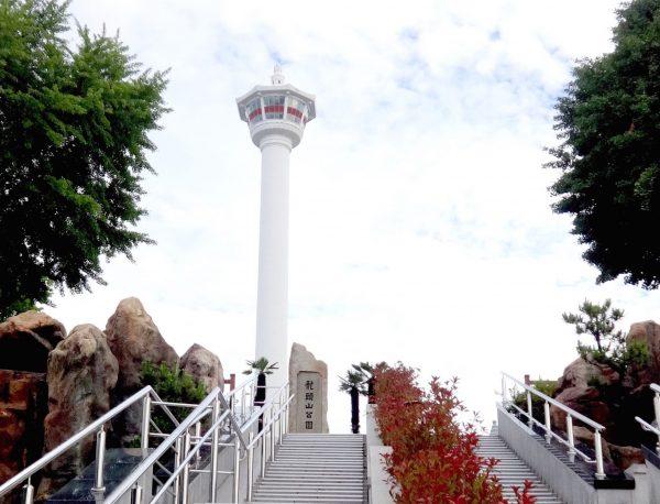 釜山タワー 龍頭山公園 階段