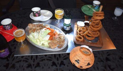 ホテル・ロッジ舞洲【ログハウス】に宿泊。テラスで夕食を満喫!