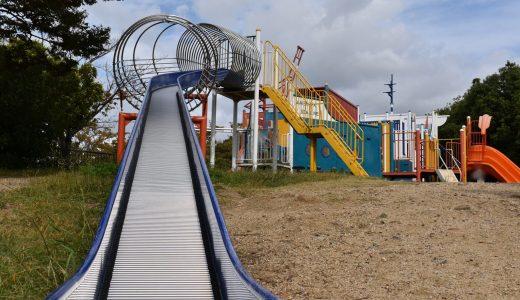 舞洲緑地内の子供の遊び場 大型遊具がありました