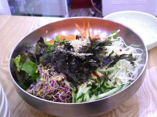 釜山 西面 24時間営業 食堂 野菜ビビンバ
