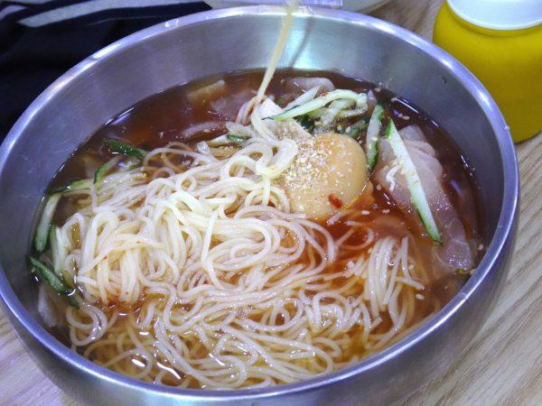 釜山 西面 昼食 ミルミョン