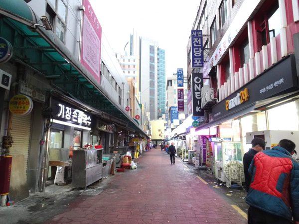 釜山 西面 デジクッパ通り