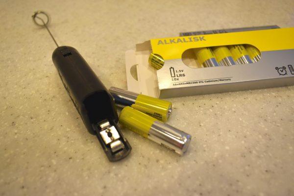 IKEA ミルク泡立て器 電池入れ方