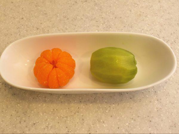 フルーツサンド作り みかん キウイ