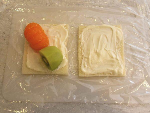 フルーツサンド作り