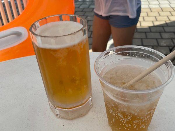 ノンアルコールビールとジュース