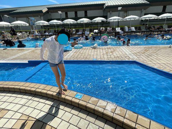 神戸ポートピアホテルの10cm子供用プール